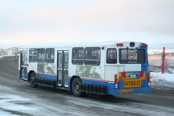 Ex-Sydney 2243AC on the resort shuttle at Mount Hotham, still in the STA livery