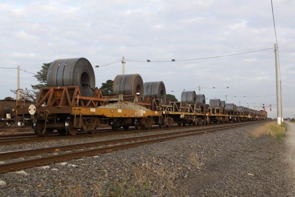 Coil steel wagons on the Somerton steel shunt