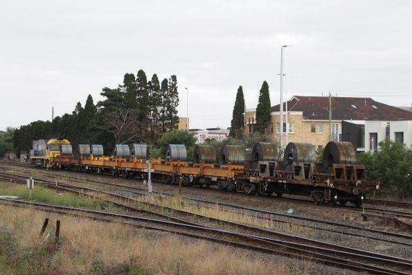 Only five wagons behind NR23 on the Somerton steel shunt