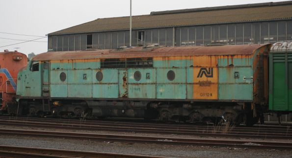 Australian National liveried GM12 in storage at South Dynon