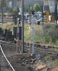New signals not yet in use at Reversing Loop Junction, for trains from the flyover bound for South Dynon