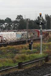 Signal 284 at Reversing Loop Junction cleared towards South Dynon loco