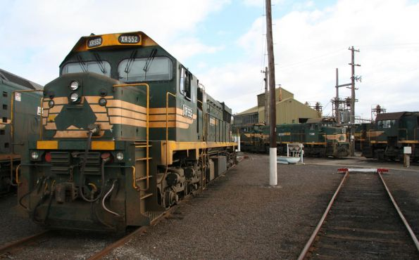 XR552 and a whole lot of stored broad gauge locos at South Dynon