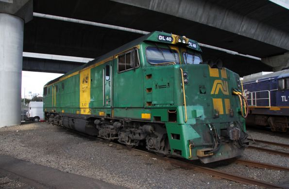 Australian National liveried DL40 stabled at South Dynon