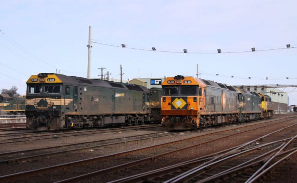 Most of the 'big' BG locos in one place at South Dynon - G525, X49, BL32, G524 and X41