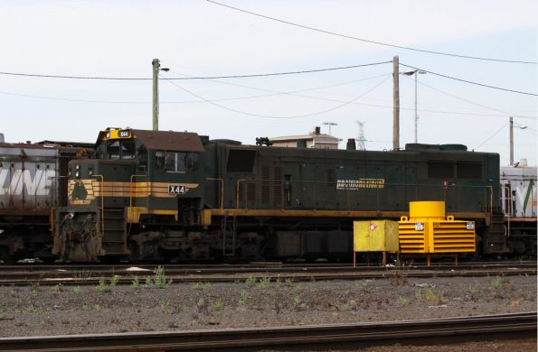 X44 sits out the back of South Dynon