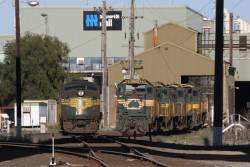 Stored locos A78, P23, P21, T388 and T399 at South Dynon