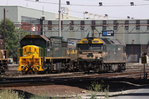 XR553 with a repainted nose, beside G524 at South Dynon