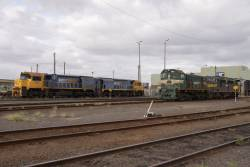 Two XRs, Y147 and A79 stabled out the back of South Dynon