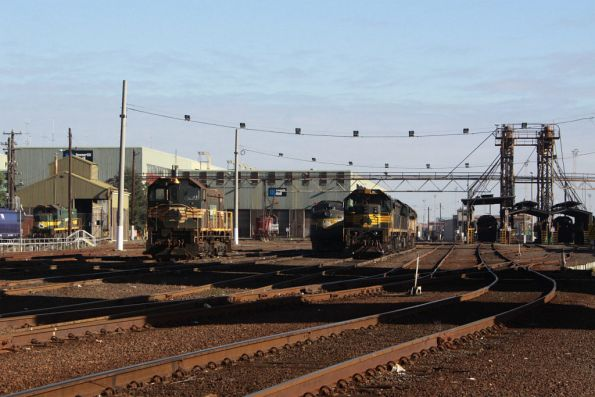 Stabled locos at South Dynon, V/Line Y class used as the shunter