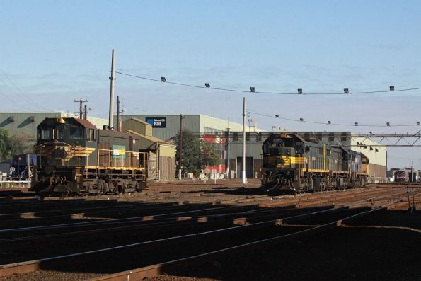 Stabled locos at South Dynon, including an unidentified Y class