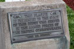Undated plaque at South Dynon dedicated to the staff who served in the armed services