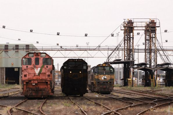 Lineup at South Dynon: rotten road Y classes beside P20 and X37