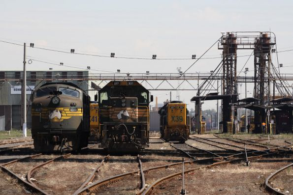A77, X41, X37 and X39 stabled at South Dynon