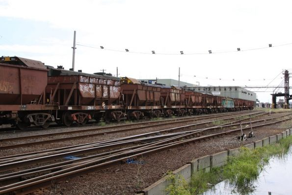 Rake of NN ballast wagons stabled at South Dynon loco, dunno why...
