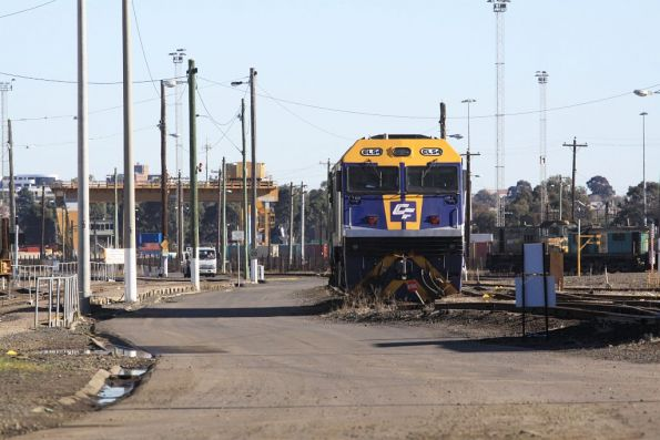 EL54 stabled out the back of the South Dynon workshops