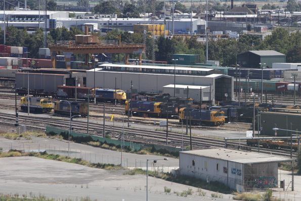 Varied collection of locomotives stabled at the rear of the South Dynon depot