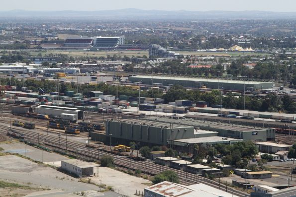 Looking across the South Dynon locomotive depot towards the South and North Dynon freight depots