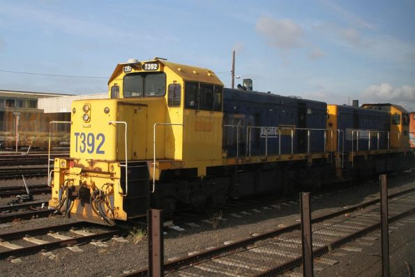 T392 and classmate stabled out the back of South Dynon