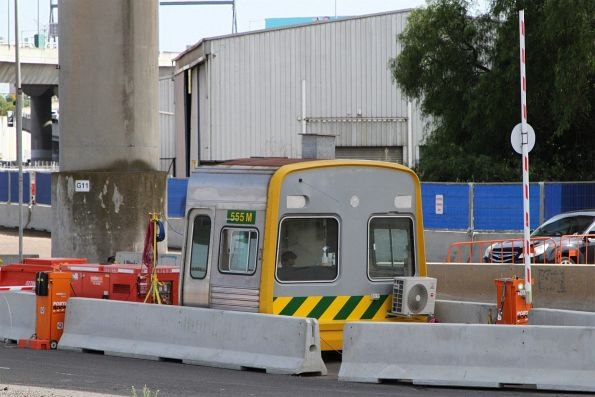 Comeng cab mockup 555M now in used as a security guard hut for West Gate Tunnel works