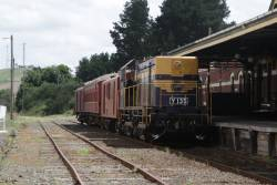 Y135 ready to depart Korumburra with a short consist made up of 17CW, 63ABW and 24ZF