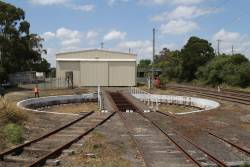 Turntable outside the locomotive shed at Korumburra