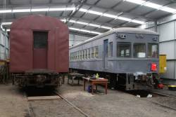 Single ended Redhen railcar 311 beside DERM RM55