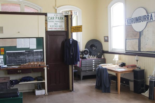 Rail memorabilia inside the SGR museum at Korumburra