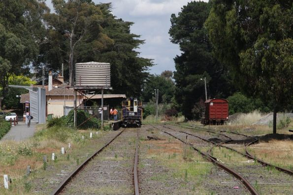 Y135 waiting in the platform at Leongatha