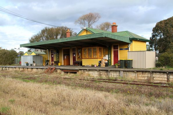 Railway station at Nyora now occupied by the local op shop
