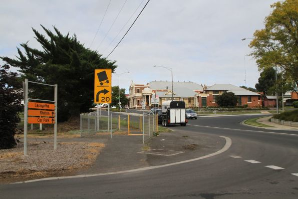 Tracks across the up end level crossing removed at Leongatha