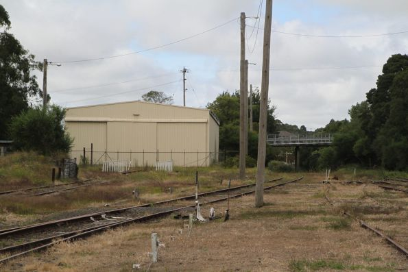 Track and the locomotive shed still in place at Korumburra