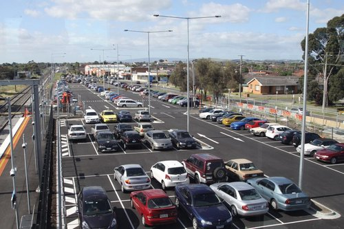 New car park on the eastern side of Thomastown station