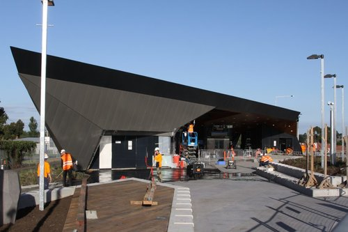 Entrance to the new station at Epping