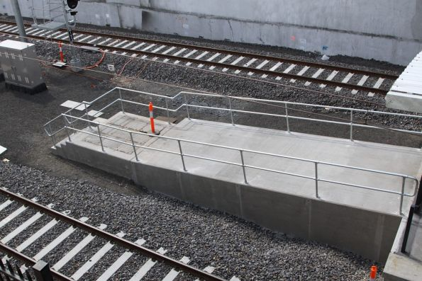 Concrete ramp leading from the South Morang platforms