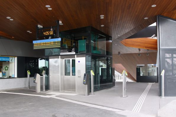 Entrance to Epping station: the number of Myki FPDs is *almost* adequate