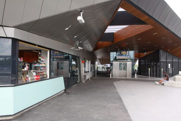 Kiosk in the forecourt of the new Epping station