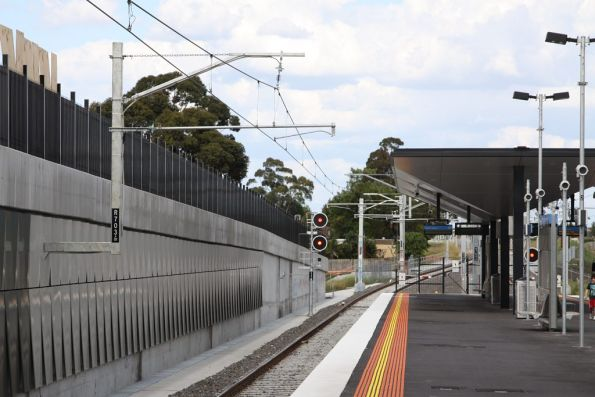 Down end of the new station at Epping