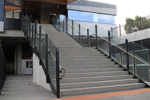 Looking upstairs to the concourse at Epping