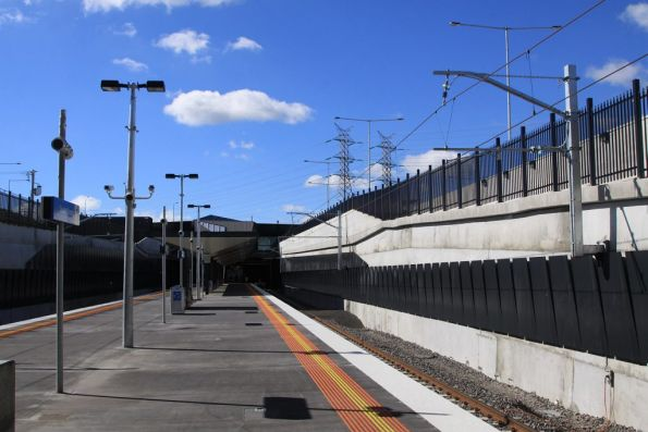 Looking down the platform at South Morang