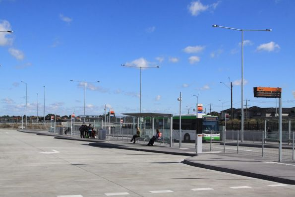Bus interchange on the south side of South Morang station