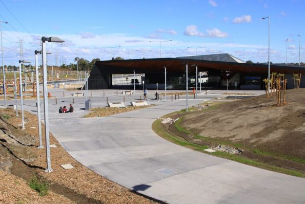 Eastern forecourt of South Morang station