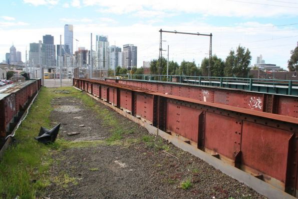 Bridges that once carried the two tracks into the Montague Goods Sheds