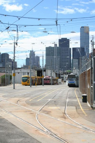 Down end of Southbank tram depot