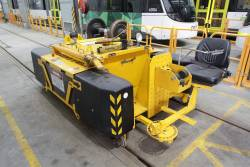 Zagro 'E-Maxi' electric tug used to shunt trams through the underfloor wheel lathe at Southbank Depot