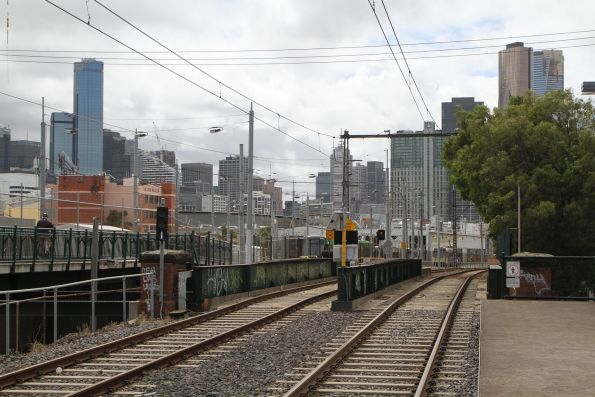 Route 109 tram tracks pass over the Montague Street bridge