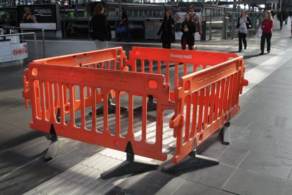 Another section of tactile paving on the main concourse has required repairs