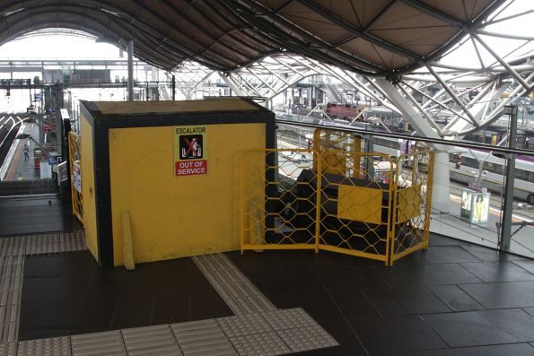 Escalator under repair at Southern Cross platform 9 and 10