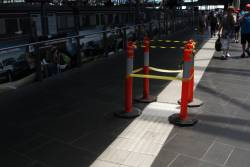 More tactile paving under repair at Southern Cross Station