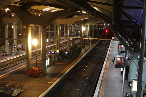 Diesel powered barrel lights still in use at Southern Cross Platform 13/14